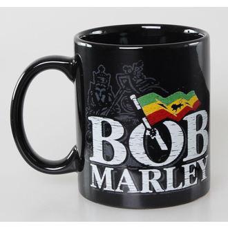 skodelica Bob Marley - Stisko Logo - Črna - ROCK OFF, ROCK OFF, Bob Marley