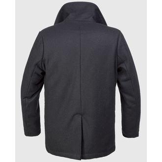 plašč moški zima BRANDIT - Pea Coat - Črno, BRANDIT