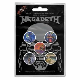 Broške MEGADETH - VIC RATTLEHEAD - RAZAMATAZ, RAZAMATAZ, Megadeth