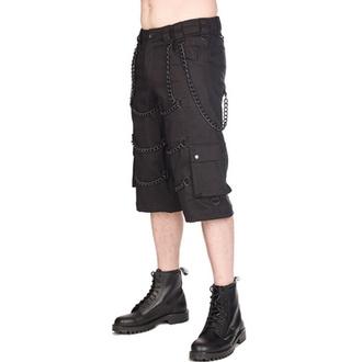 Moške kratke hlače BLACK PISTOL - Chain - Denim Črna, BLACK PISTOL