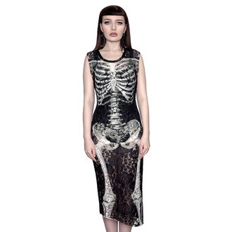 obleko ženske KILLSTAR - Skeletor Lace Maxi, KILLSTAR
