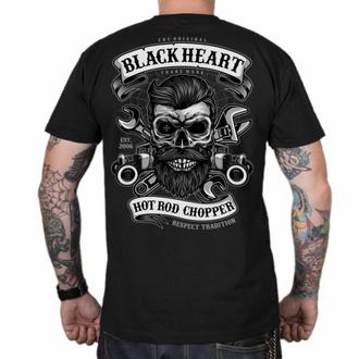 Moška majica BLACK HEART - RESPECT TRADITION - ČRNA, BLACK HEART