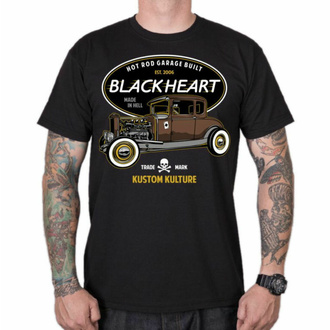 Moška majica BLACK HEART - HOT ROD TRADITIONAL - ČRNA, BLACK HEART
