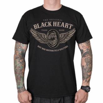 Moška majica BLACK HEART - WINGS - ČRNA, BLACK HEART