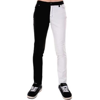 hlače moški 3RDAND56th - Split Leg Skinny - Črno / bela, 3RDAND56th