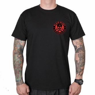 Moška majica BLACK HEART - RED SKULL - ČRNA, BLACK HEART