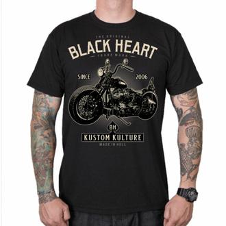 Moška majica BLACK HEART - MOTOR CYCLE - ČRNA, BLACK HEART