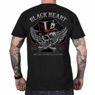 Moška majica BLACK HEART - HAT SKULL - ČRNA, BLACK HEART