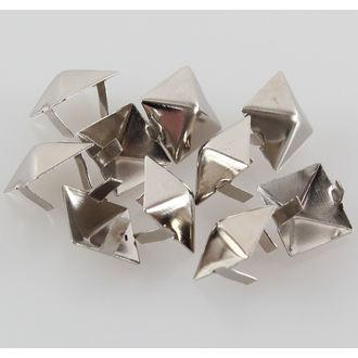 piramide kovinski - 10pcs, BLACK & METAL