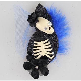 sponka za lase Skelet Modra / Črno