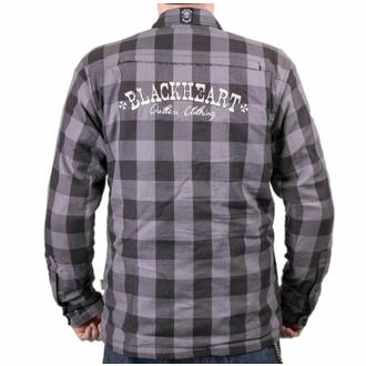 Moto srajca BLACK HEART - W-TEC - SIVA, BLACK HEART