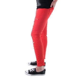 hlače ženske VANS - Visoka Vstanite Nazaj Zadrga Plamen - Škrlat, VANS