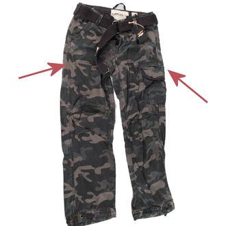 hlače moški SURPLUS - Premium Vintage - Črno Camo - ZAŠČITA, SURPLUS