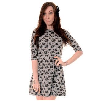 obleko ženske 3RDAND56th - Pug Face - Zelena / Melange, 3RDAND56th