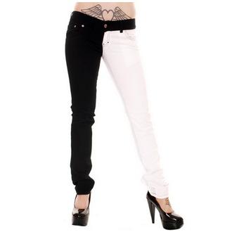 hlače ženske 3RDAND56th - Split Leg - Črno / Bela, 3RDAND56th