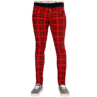 hlače (unisex) 3RDAND56th - Checked - Črno / rdeča, 3RDAND56th