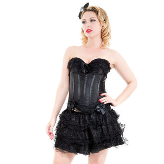 steznik a krilo ženske HEARTS AND ROSES - Black Corset With Skirt, HEARTS AND ROSES