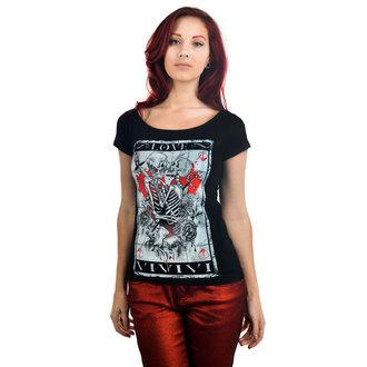 majica gotsko in punk ženske - Skull Tarot - TOO FAST, TOO FAST