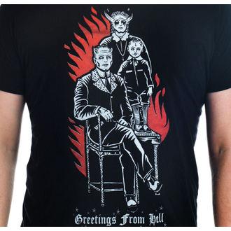 majica gotsko in punk moški - Greetings From Hell - TOO FAST, TOO FAST