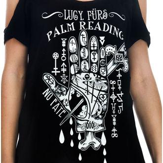 majica gotsko in punk ženske - Lucy Furs Palm Read - TOO FAST, TOO FAST