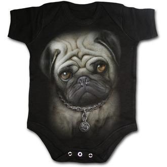 telo otroci SPIRAL - Pug Life - Črno, SPIRAL