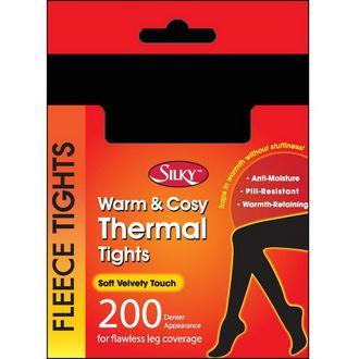 nogavice zima (toplotno) Legwear - Silky - Črno, LEGWEAR