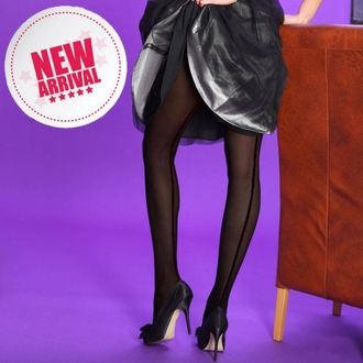 nogavice Legwear - opaque seamer - Črno z črna šiv, LEGWEAR