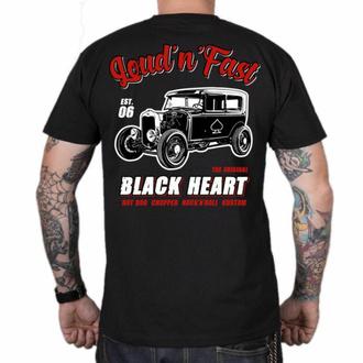 Moška majica BLACK HEART - HOT ROD A - ČRNA, BLACK HEART