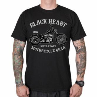 Moška majica BLACK HEART - CHOPPER - ČRNA, BLACK HEART