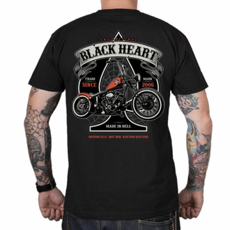 Moška majica BLACK HEART - ORANGE CHOPPER - ČRNA, BLACK HEART