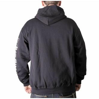 Moška majica s kapuco BLACK HEART - BASTARD SKULL BASIC - ČRNA, BLACK HEART
