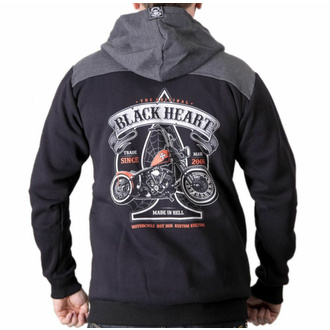 Moška jopica s kapuco BLACK HEART - ORANGE CHOPPER - ČRNA, BLACK HEART