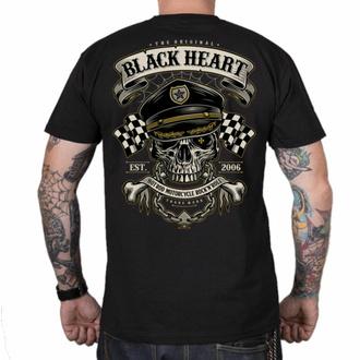Moška majica BLACK HEART - OLD SCHOOL RACER - ČRNA, BLACK HEART