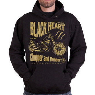 jopa s kapuco moški - Chopper And Bobber - BLACK HEART, BLACK HEART