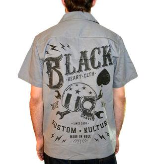 majica moški BLACK HEART - Wrench Skull - Črno, BLACK HEART