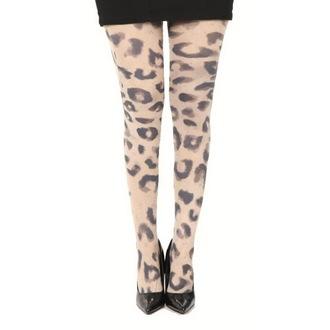 nogavice PAMELA MANN - Big Leopard Printed - Naravno, PAMELA MANN