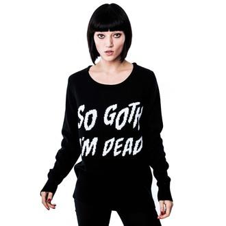 pulover (unisex) KILLSTAR - So Goth - Črno, KILLSTAR