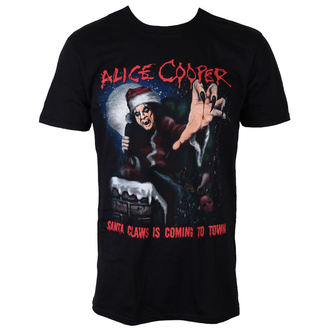 majica kovinski moški Alice Cooper - Santa Claws - ROCK OFF, ROCK OFF, Alice Cooper