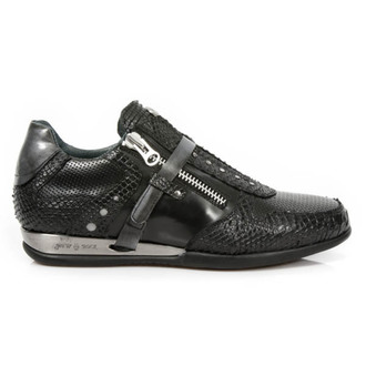 usnje čevlji ženske - PITON NEGRO PULIK - NEW ROCK, NEW ROCK