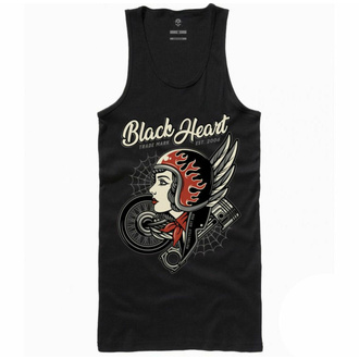 Ženski top BLACK HEART - MOTORCYCLE GIRL - ČRNA - 9124