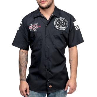 Moška srajca - WORNSTAR - Death Mechanic - Črna, WORNSTAR
