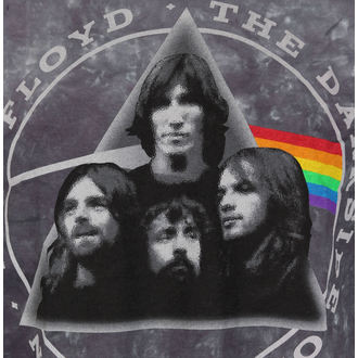 majica kovinski moški Pink Floyd - Dark Side Group Tie-Dye - LIQUID BLUE, LIQUID BLUE, Pink Floyd