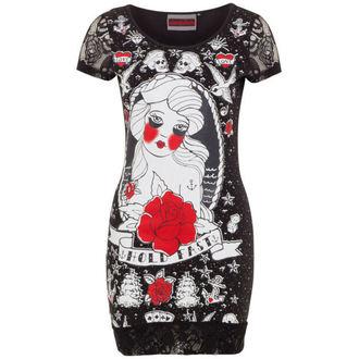 obleko ženske JAWBREAKER - Črno / rdeča Rose, JAWBREAKER