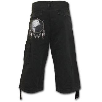 moški 3/4 kratke hlače SPIRAL - Wolf Chi - Črno, SPIRAL