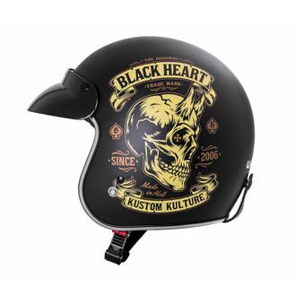 Čelada BLACK HEART - DEVIL SKULL - BLACK, BLACK HEART