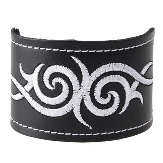 zapestnica Tribal - White, BLACK & METAL