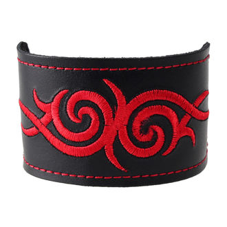 zapestnica Tribal - Red, BLACK & METAL