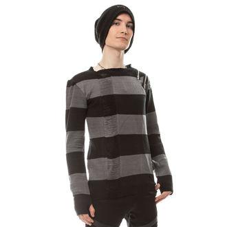 pulover moški HEARTLESS - DROP DEAD - BLACK / SIVA, HEARTLESS