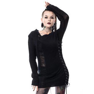 pulover (tuniko) ženske HEARTLESS - DROPOUT - BLACK