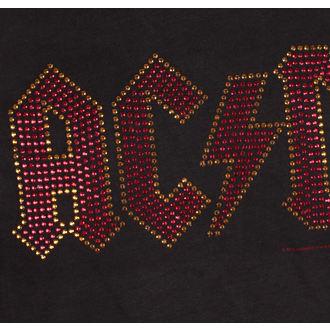 Metal majica moški AC-DC - CLASSIC LOGO CHARCOAL RED - AMPLIFIED, AMPLIFIED, AC-DC
